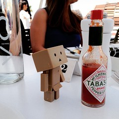 Danbo: what's this? John: that's a mix for Bloody Mary. #danboard
