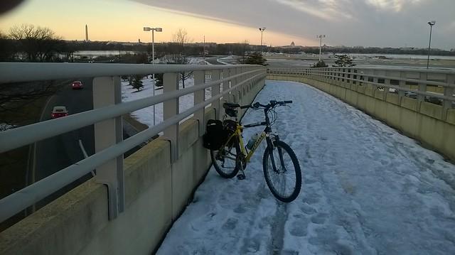Bike trail bridge near National Airport