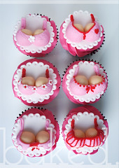 Bra Cupcakes