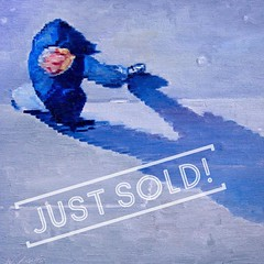 Just sold at ViVO Contemporary! #figurativeart #aerial #impressionism #vivocontemporary #canyonroad #painting