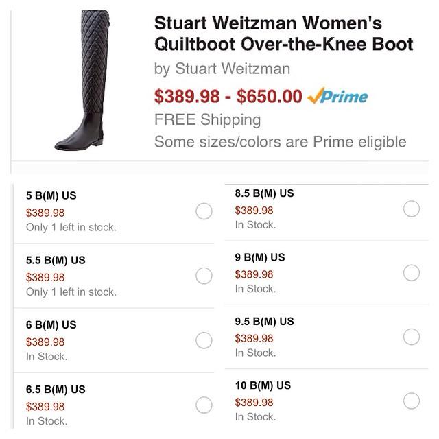 Stuart Weiztman Quiltboot - 40% off