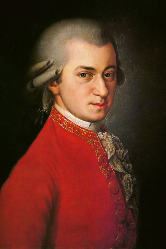 Wolfgang Amadeus Mozart in action.