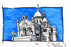 Paris, France - Sacre Coeur - Color - from image