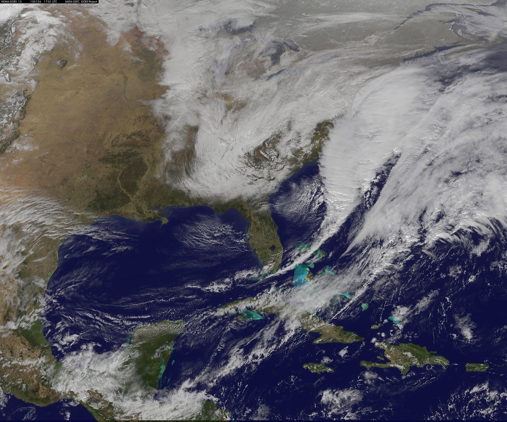 Satellite Shows Developing U.S. Nor'easter