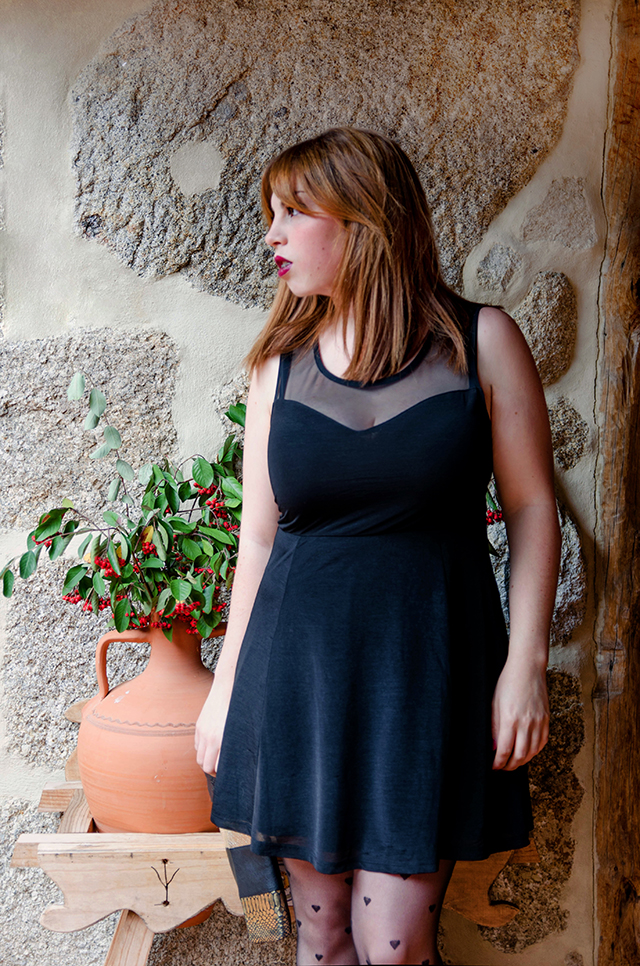 Look para navidad con un little black dress