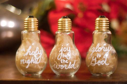 Christmas Light Bulb Jars