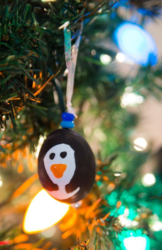 Penguin Blown Egg Ornaments