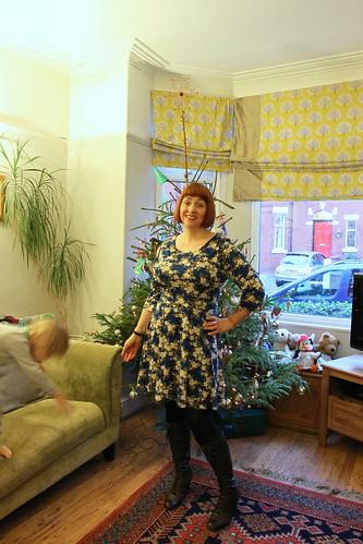 teal floral dress 5