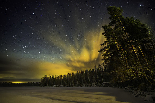 christmas longexposure trees winter shadow sky lake snow beautiful yellow horizontal night clouds forest suomi finland stars landscape golden countryside frozen amazing colorful dramatic panoramic aurora nightsky nightview finnish cloudformation maisema northernlights auroraborealis starsky mäntyharju auroraaustralis fav100 fav200 revontuli