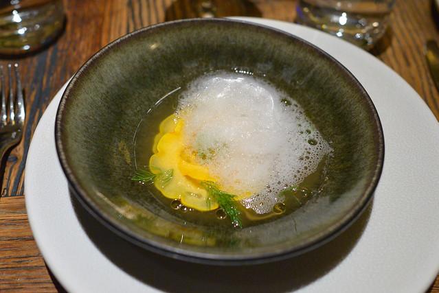squash yolk, anchoiade, yuzu