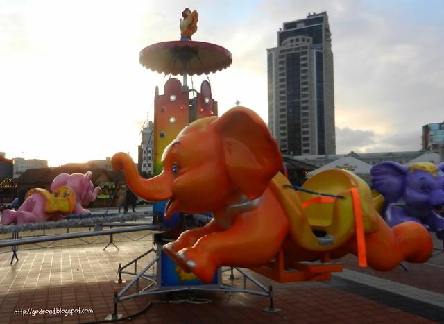 Олимпийская площадь Киева на Новый год