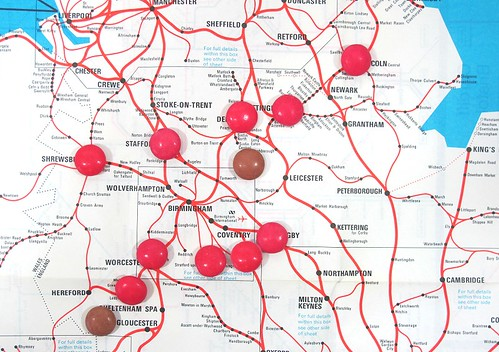 Midlands Map with Smarties