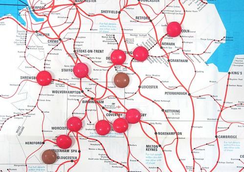 Midlands Map with Smarties