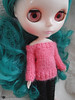 Off-the-shoulder sweater for Blythe by arianna frasca