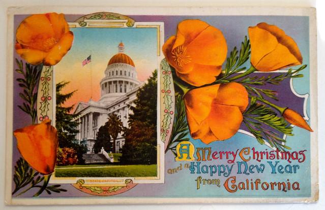 1913 christmas postcard