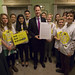 UK Deputy Prime Minister Nick Clegg meets with 15 of Britain's top 15 year-old youth activists for the launch of the...