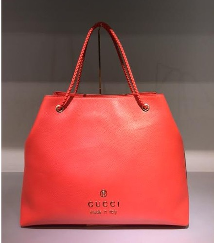 $739 Large Gifford Tote in Coral Leather 380118_CAO0G_6511