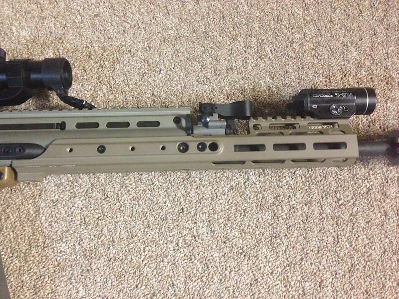 Installed Kinetic Development Group MREX Scar Rail - AR15 COM