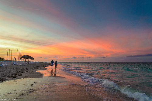 ocean sunset beach water sand seagull cuba lovers varadero d600 briandtucker