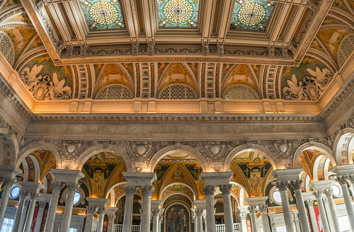 The Library of Congress Foyer Ceiling by Geoff Livingston