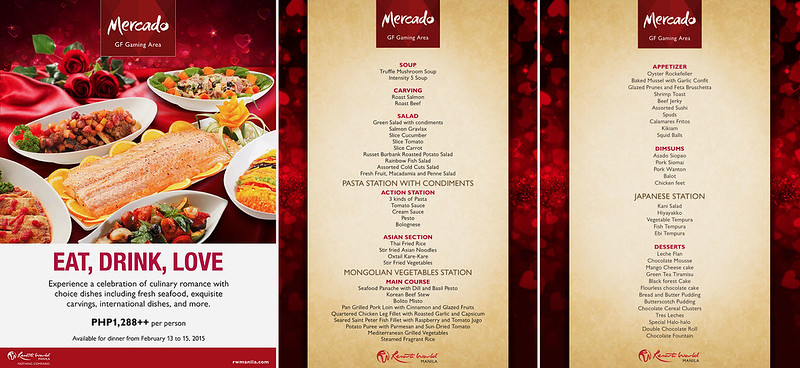 Valentine's Menu at Mercado