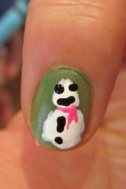 Bug-eyed snowman
