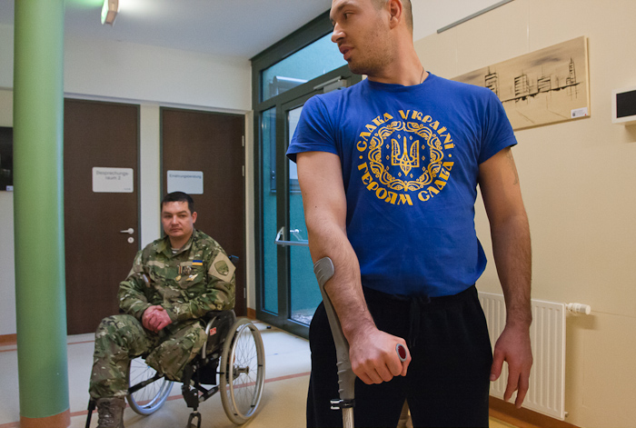 ukrainian soldiers during the medical reabilitation in Austria