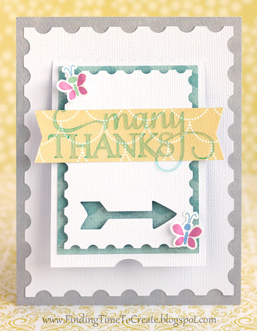 Many Thanks Arrow Flap Card by Kelly Wayment