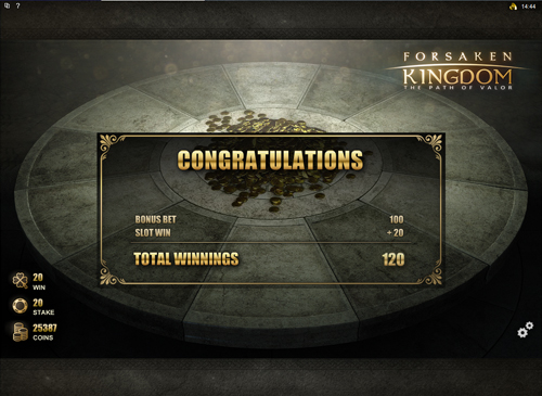 Forsaken Kingdom Round Table Feature Win