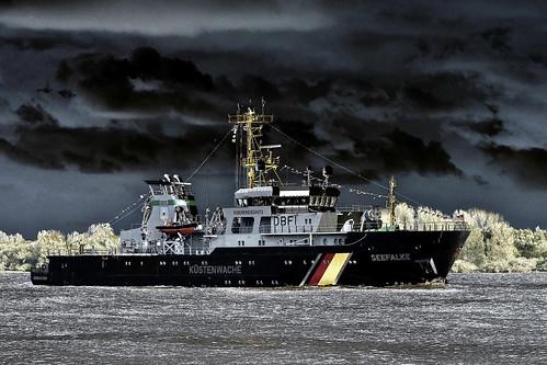 Coastguard Elbe River Hamburg