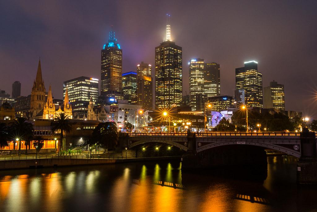 Hazy Melbourne Night