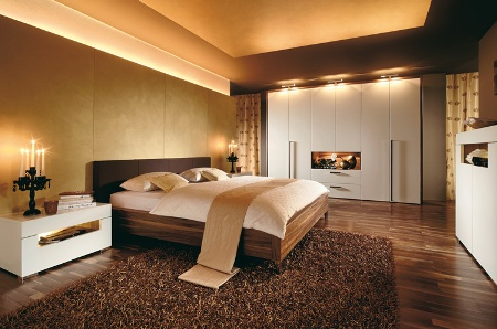 Brown Gold Majestic Man Bedroom Design
