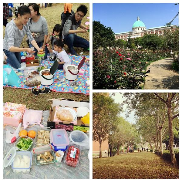 亞洲大學野餐溜小孩