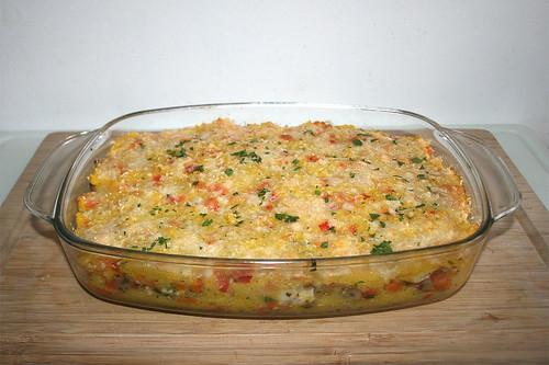 55 - Polenta chicken casserole - Finished baking / Polenta-Hähnchen-Auflauf - Fertig überbacken