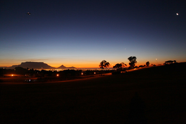 Venus over Cape Town