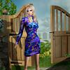 Jamee Sandalwood - Glam Dreams Susan Blue Flowers