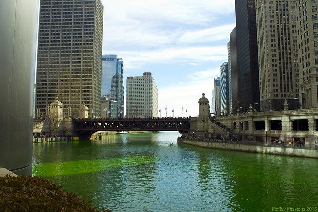 view of michigan ave bridge