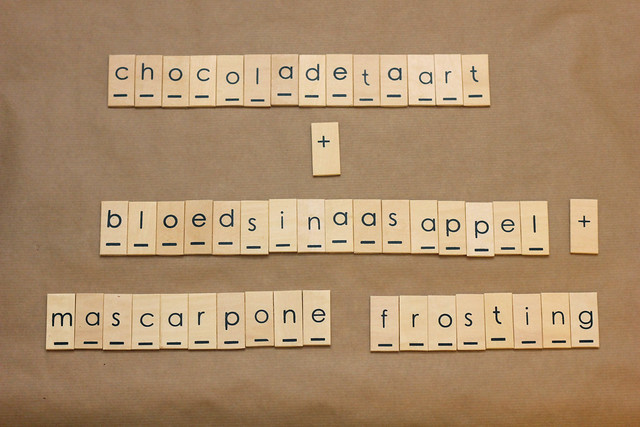 donkere chocoladetaart met bloedsinaasappel-mascarpone frosting