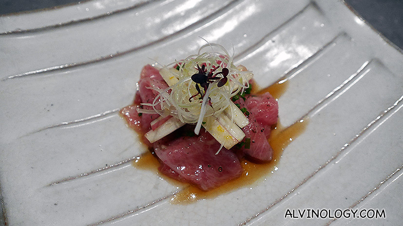 Carpaccio of Tuna with Endives