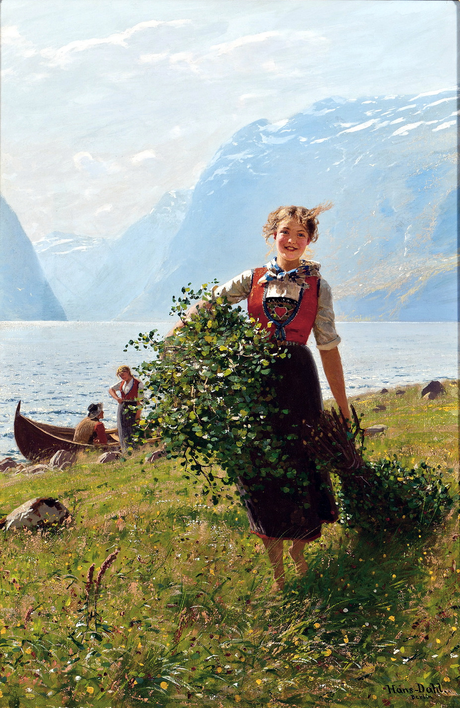 Flirtation by Hans Dahl