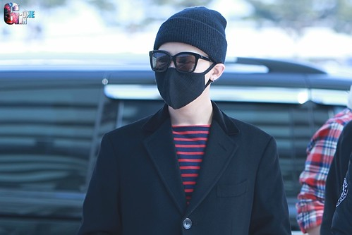 Big Bang - Incheon Airport - 01apr2015 - G-Dragon - G-One - 01