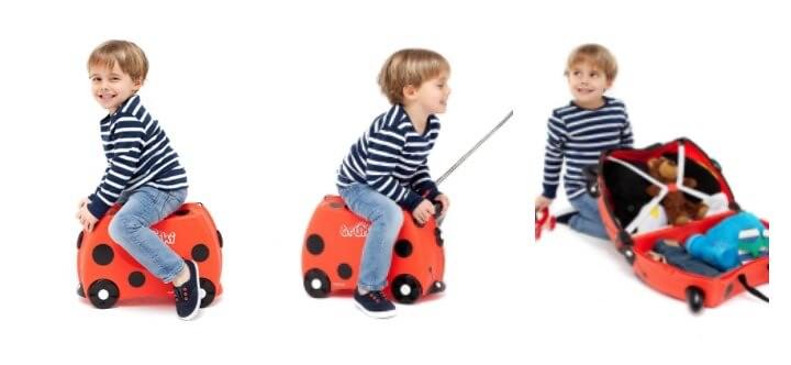 niños con la maleta TRUNKI