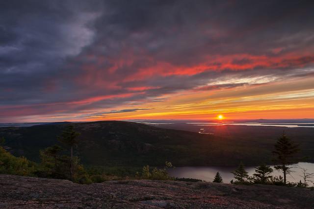 Sunset from Cadillac Mountain (Bar Harbor, Maine)