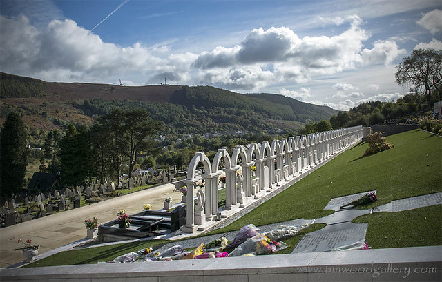THE WHITE ARCHES....ABERFAN CEMETERY, S.WALES.