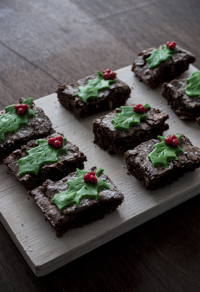 Brownie navideño