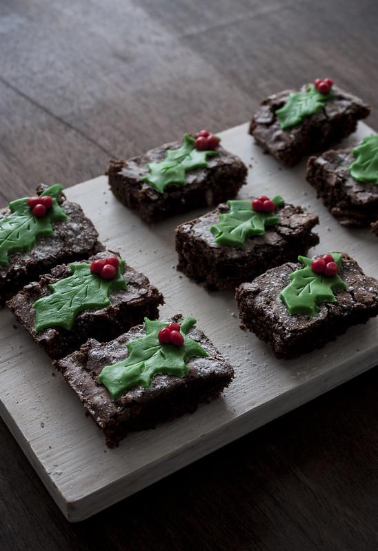 Brownie navideño