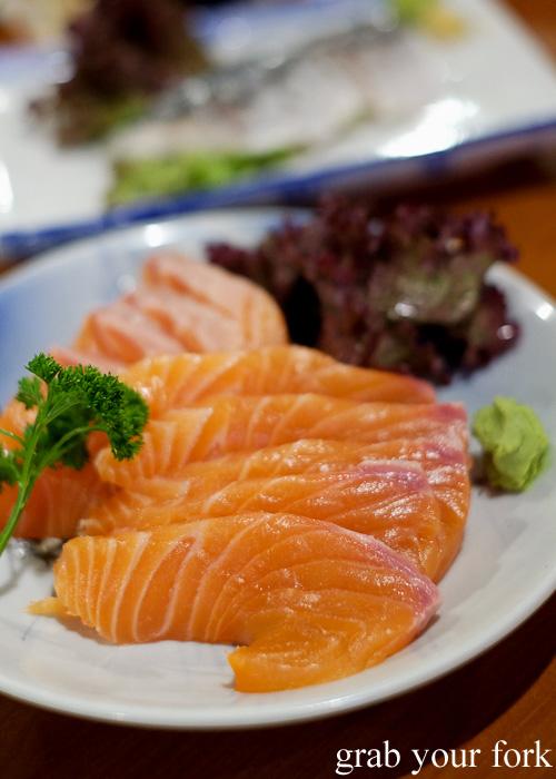 Salmon sashimi at Nom, Darlinghurst