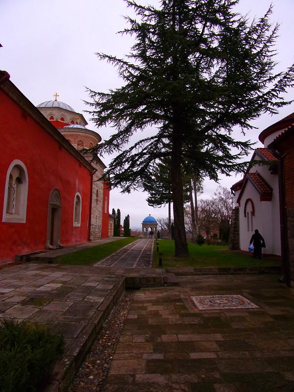 Inner courtyard, Zica Monastery