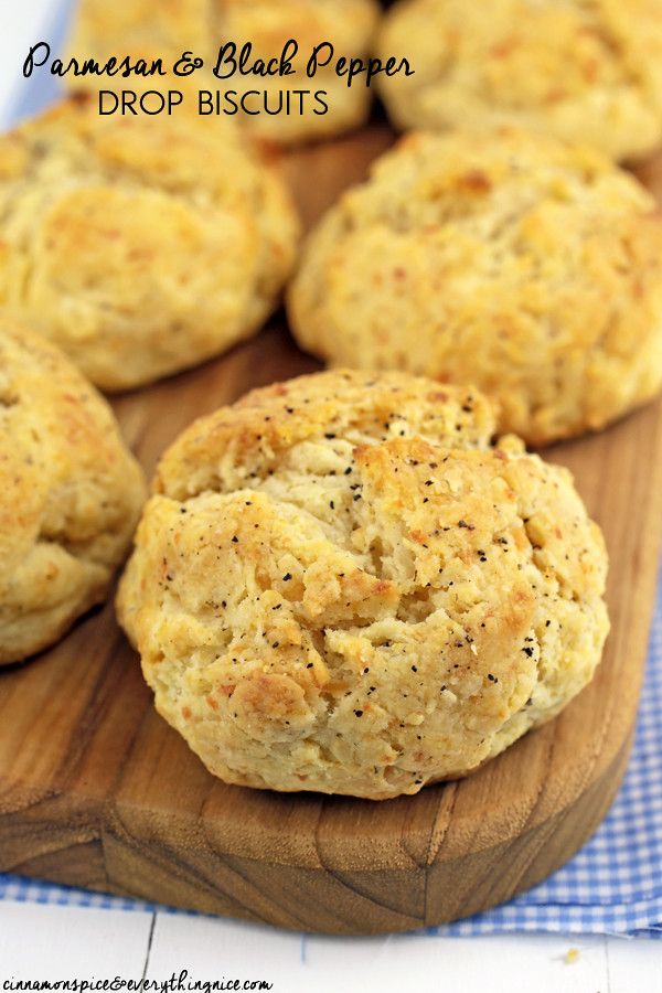 Parmesan & Black Pepper Drop Biscuits | Cinnamon-Spice & Everything ...