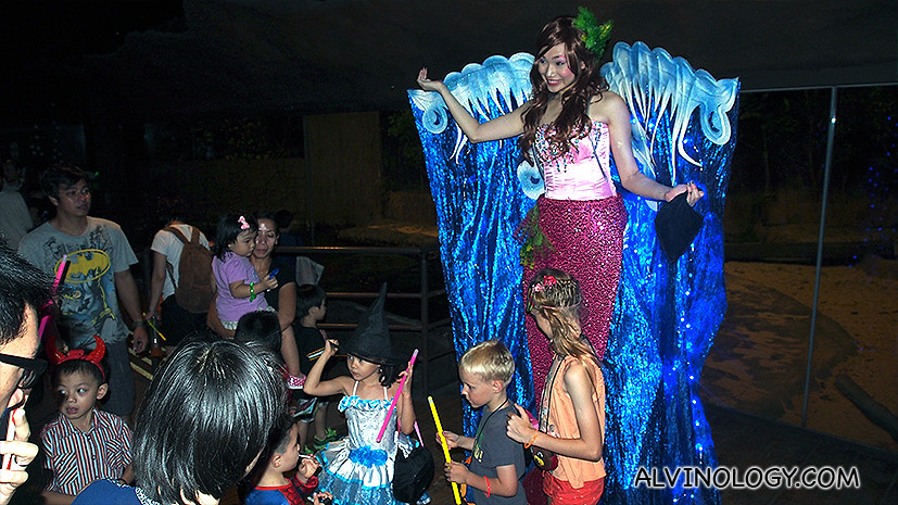 Stilt walker in costume